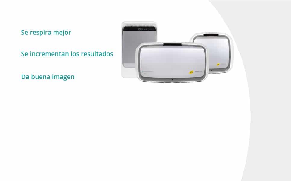 PHS Serkonten Purificadores AeraMax Pro. Tres modelos a su disposición. Se respira mejor, se incrementa los resultados y da buena imagen