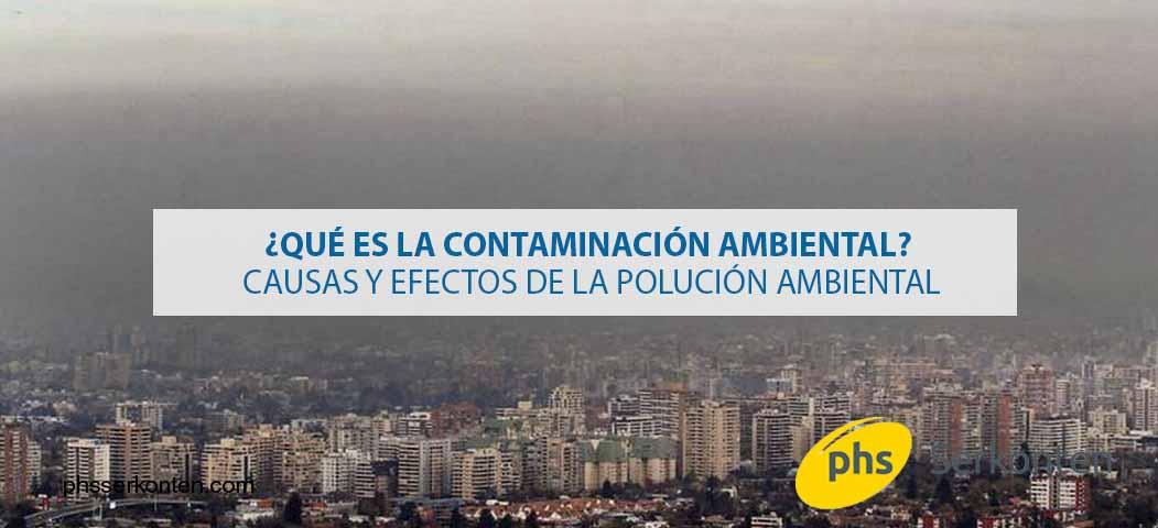 contaminación medio ambiental