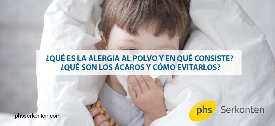 qué es la alergia al polvo